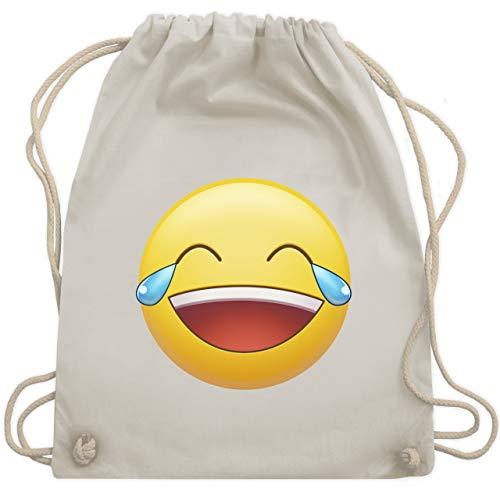 Statement Shirts - Tränen Lachen Emoji - Unisize - Naturweiß - WM110 - Turnbeutel & Gym Bag