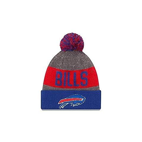 New Era Nfl Sideline Bobble Knit Bufbil Otc - Casquette ligne Buffalo Bills pour Homme, couleur Bleu, taille OSFA
