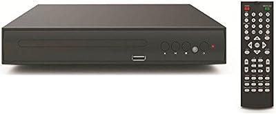 lonpoo Scart LP de 0882.0CH Reproductor de DVD, USB2.0Soporte para múltiples idiomas Completo Multifunción–Mando a distancia lector de tarjeta SD/Cd/Foto de jugador de TV Negro