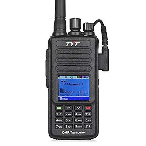 Tytera TYT MD-380 DMR Digital Two Way Radio UHF 400-480MHz 1000 CH Long Range Scrambler Walkie Talkie Black UK,Color LCD Display, with Programming Cable and 2 Antenna (High Gain Antenna included)