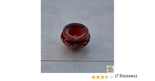 Lot 2 mini cendriers Marrakech bleu nuit et rouge Mini mod/èle