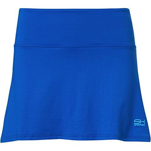 Sportkind Mädchen & Damen Tennis / Hockey / Golf Basic Rock mit Innenhose, kobaltblau, Gr. 140