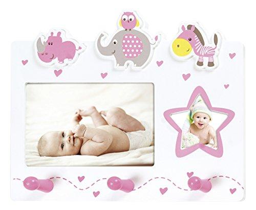 ZEP G26PK - Perchero infantil, 26,0 x 21,5 x 5,5 cm, color rosa