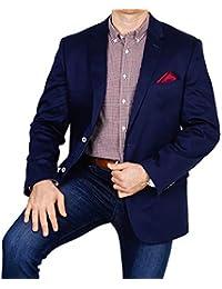d8956da6117e6e bonprix Herren Sakko untersetzt Comfort Fit Baumwoll-Mix Übergröße Blazer  Zweiknopf Jackett Anzug Langgröße bequem