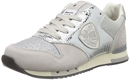 Blauer USA 6SWORUNORI/LAM, Damen Sneakers, Silber (SILVER), 37 EU
