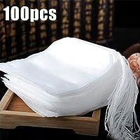 ToGames-ES Bolsas de té perfumadas vacías de la Tela no Tejida de los Bolsos de té 5.5x7CM 100pcs / Lot con la Secuencia