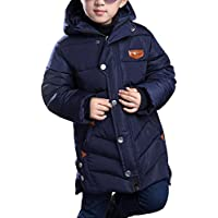 OCHENTA Big Boys Mid-Long Winter Padded Jacket Quilted Coat Age Of 4-12