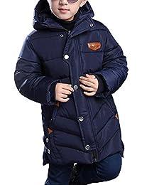 OCHENTA Chicos Abrigos Chaquetas Otoño de invierno Caliente Capucha Ropa para niños