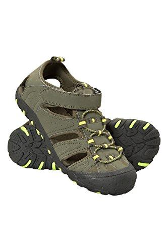 Mountain Warehouse Coastal Sandalen für Kinder - Neopren, Sommerschuhe, Zwischensohle, Strand-Flipflops zum Schlüpfen - Für Mädchen und Jungen - Für Spaziergänge, Reisen Khaki 37 EU