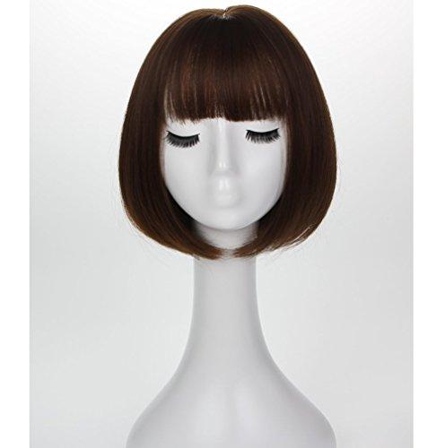 YZ-YUAN Womens Ladies Short Bob Synthetische Volle Perücke Pop Oder Cosplay Und Kostüm ()