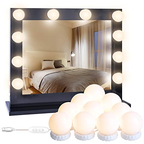 Luces para Espejo de Maquillaje POVO 10 Bombillas Estilo Hollywood Regulables LED Lámpara Kit de Espejo...