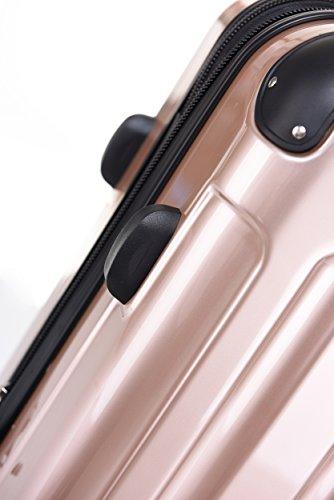 BEIBYE Zwillingsrollen 2048 Hartschale Trolley Koffer Reisekoffer in M-L-XL-Set in 17 Farben GOLD