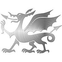 JasonCarlMorgan JCM Graphics Welsh Dragon 100mm Sticker, Chrome Silver