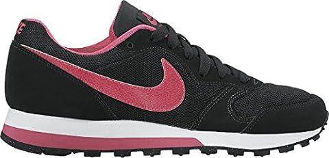 Nike Md Runner 2 (gs), Chaussures de Gymnastique mixte enfant, Noir (Black/vivid Pink/white), 38.5 EU