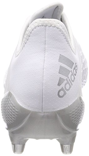adidas Predator Malice Control (SG), Chaussures de Rugby Homme, Noir, UK Blanc (Footwear White/silver Metallic/footwear White)