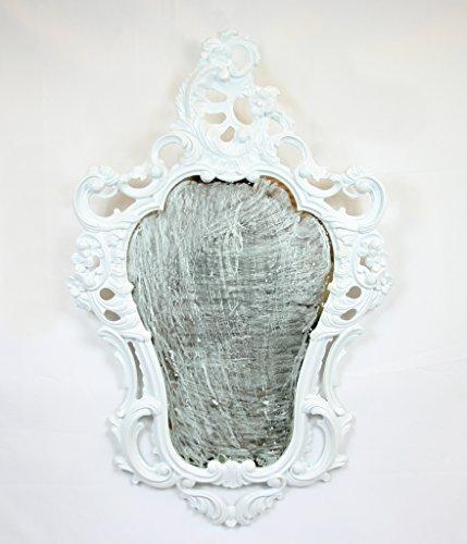 Coiffeuse blanche Blanc à miroir mural en Style Baroque Louis XVI imitation vintage entrée maison