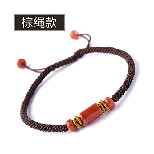 Rote Seil Hand - Kette Transfer - Perle Stricken Seil Mann Und FrauBrown (Gold-seil-kette Männer)