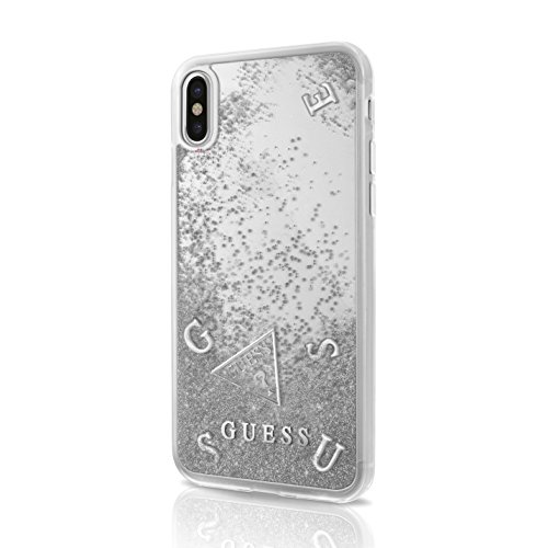 0e84df6d538 Guess Purpurina - Carcasa para Apple iPhone X, Color Plata