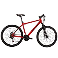 JAVA Passo 27.5 inch Aluminum Mountain Bike MTB Bicycle with Shimano 21 Speed (Red, L)