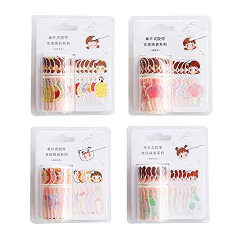 WINJEE, DIY Washi Tape Handbuch Sticker Dress Up Girl Kleidung passende Kleidung Dressup Creative Stationery Gelegentliche Anlieferung (Kleidung Qualität Dress Up)