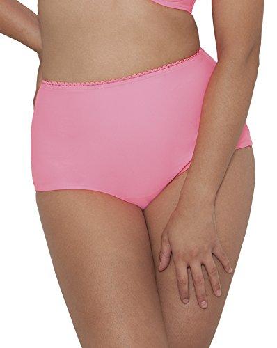 Curvy Kate Damen Bikinihose Jetty High Waist Brief, Rose, onesize Rosa (Flamingo)