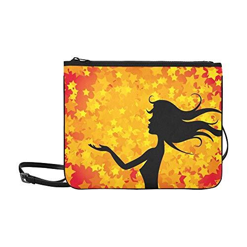 WYYWCY Mädchen benutzerdefinierte hochwertige Nylon dünne Clutch-Tasche Umhängetasche Umhängetasche -