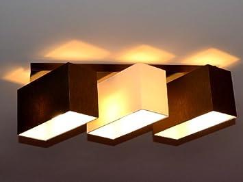 deckenlampe deckenleuchte lampe leuchte 3 flammig top design ... - Deckenleuchte Wohnzimmer Braun