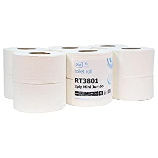 Cutting-Edge ANDARTA - 01-018 - TOILET ROLLS, MINI JUMBO, 150M - Pack of 12 - [Manufacturer's OEM Packaging]