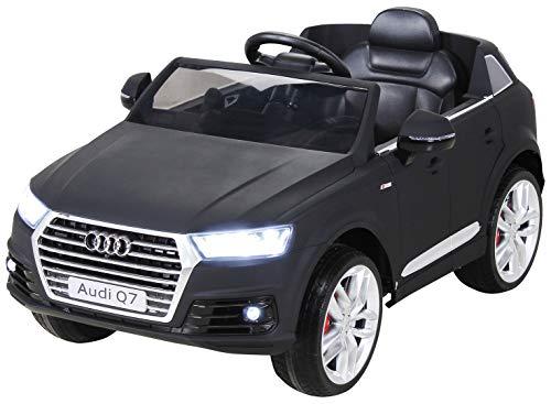 Actionbikes Motors Kinder Elektroauto Audi Q7 4M - Lizenziert - 2 x 45 Watt Motor - 2,4 Ghz Rc Fernbedienung - USB - Mp3 - Elektro Auto für Kinder ab 3 Jahre (Schwarz Matt)