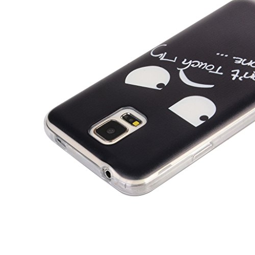 iPhone 6s Plus / iPhone 6 Plus Hülle mit Frei Hartglas Displayschutzfolie, BoxTii Apple iPhone 6 Plus / iPhone 6s Plus TPU Schutzhülle, Weiche Kratzfeste Stoßdämpfende Rückschale Case Cover für Apple  #13 Schwarz