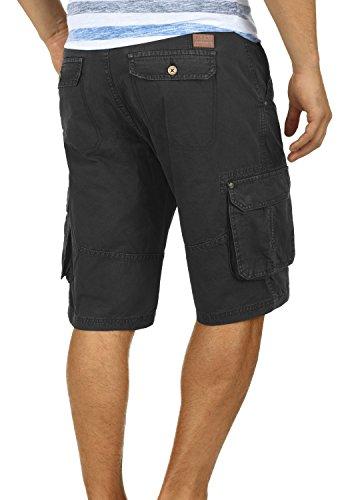 BLEND Renji Herren Cargo-Shorts kurze Hose mit Taschen aus 100% Baumwolle Black (70155)