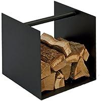 Spinder Design Kaminholzablage Box Ablage Schwarz Oder Weiß, für Brennholz, Farbe:Schwarz preisvergleich bei kinderzimmerdekopreise.eu