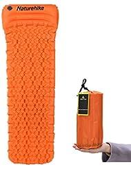 Hikenture™ Ultraleichte Aufblasbare Isomatte mit Kopfkissen, Schlafsack Partner, Sleeping Pad für Camping, Reise, Outdoor, Wandern, Strand (Blau Violett Orange)