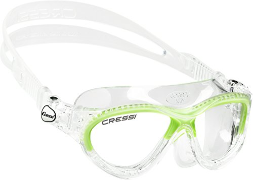 6385fd2c75a0 Cressi Cobra Kid Occhialini da Nuoto con Facciale Monovolume, Unisex  bambini, Trasparente/Lime