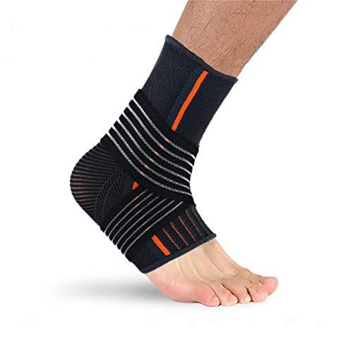WESYY Knöchelbandage, atmungsaktives Material, superelastisch und bequem, Einheitsgröße, perfekt für den Sport, schützt vor chronischer Knöchelbelastung, Verstauchungen, Müdigkeit uswBlackMen -