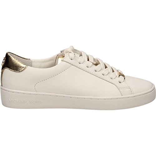 Michael Kors Sneaker Irving Lace Up Optic White Pale Gold Mirror Metallic 39