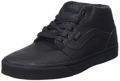 Vans Chapman Mid, Sneakers Hautes Homme Noir (Leather black/black)