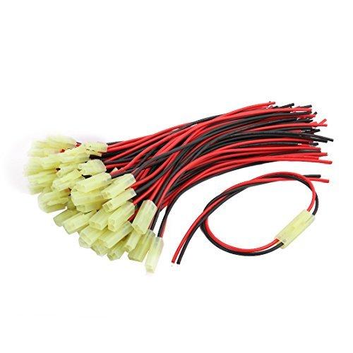 DealMux 200 mm Longueur du câble de fil de 2 terminaux mâle prise femelle connecteur de l'adaptateur de 31 paires