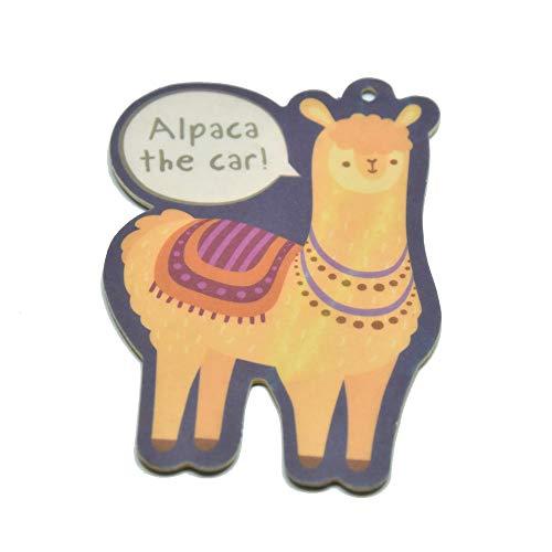 trendaffe Alpaca Lufterfrischer mit Orangen Duft - Alpaka Duftbaum Auto Lufterfrischer