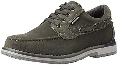 Weinbrenner Men's Naples_Wb Grey Leather Boat Shoes - 11 UK (8232458)