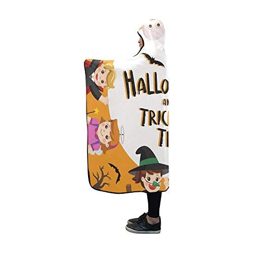 JOCHUAN Mit Kapuze Decke Kinder Verkleidet Halloween Kostüm gehen Decke 60 x 50 Zoll Comfotable Hooded Throw Wrap