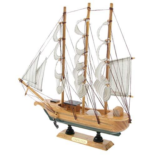 Homyl 3D Segelboot DIY Holz Pädagogisches Spielzeug oder Hobby Dekor Handels Schiff Boot Modell 30cm (Schiffs Modell Aus Holz)