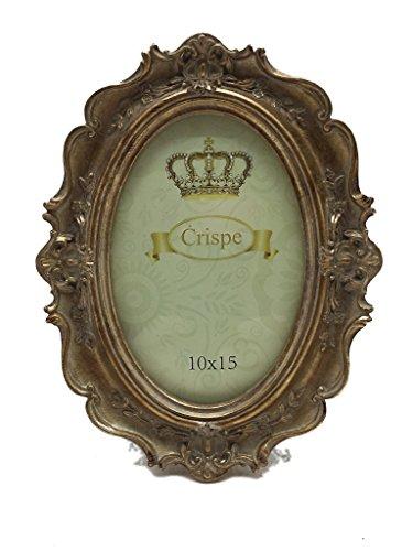 Crispe Bilderrahmen 'Como' im Antik-Look in Antikgold Größe 16 x 21 cm - Bildmaß 10 x 15 cm...