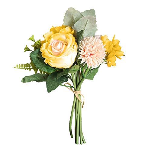 Mysracing Künstlicher Blumenstrauß mit Rosenkugel und Gänseblümchen