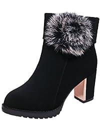 MEI&S Bloque Borrado de la mujer Tacones Botines zapatos con plataforma