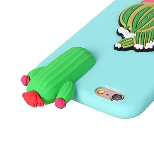 iPhone 6S Plus 3D Silikon Hülle Rosa Schleife Weiche Silikon Back Cover 3D Niedlich Frucht Muster Bumper Handyhülle Schale für iPhone 6 Plus / 6S Plus Banane Kaktus