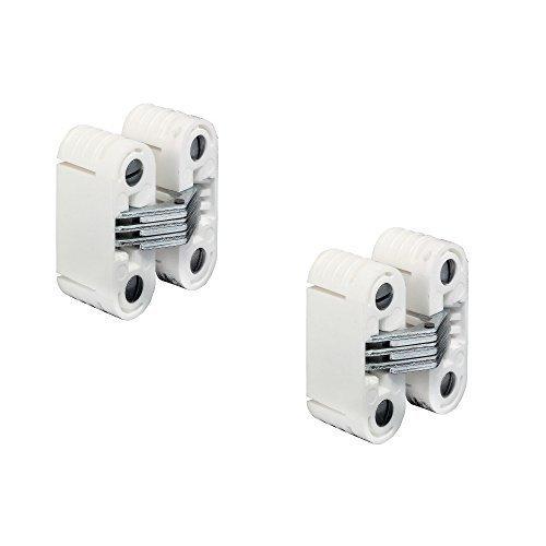 2 Stück - GedoTec® Möbel Einbohrband für Holzdicken ab 24 mm zum Einfräsen | Möbelscharnier für unsichtbaren Anschlag | Einbohr-Scharnier mit 180° Öffnungswinkel | Tragkraft 15 kg | Markenqualität für Ihren Wohnbereich