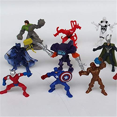 50 pcs American Super Hero The Avengers Captain Iron Man Black Widow Thor Spiderman Poupée Douce Modèle Jouet garçon