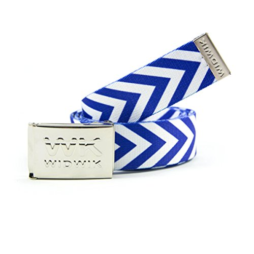 33f73aa74c6a Ceinture WK Limited Edition - ceinture blanche à rayures bleues