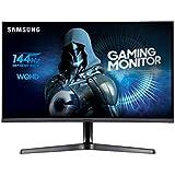 Samsung Monitor C27JG52 Monitor da Gaming Curvo da 27'', WQHD, 2560x1440, 1800R, 4 ms, 144 Hz, 2 HDMI, 1 Display Port, Nero